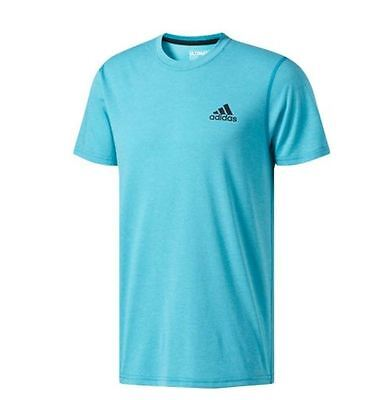 Adidas Men's CLIMALITE Ultimate Tee Athletic Running Short-Sleeve Blue T-Shirt