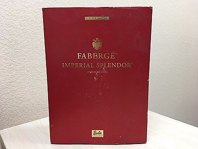 Faberge Imperial Splendor Porcelain Doll Red Limited Edition Barbie 2000 Box COA
