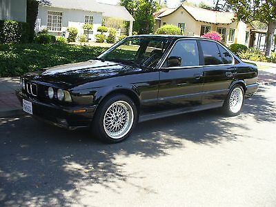 1991 BMW 5-Series Black Clean California Rust Free BMW 535i  Rare 5 Speed Manual  Freeway Miles