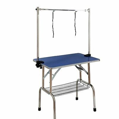 Pet Dog Adjustable Portable Steel Frame Two Dog Grooming Table - W90 x H160cm