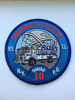Rare NYPD ESU Emergency Services Unit Squad 10 Patch.