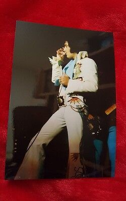 Rare Elvis On Stage Drinking Water Photo!!