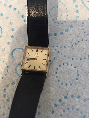 ladies 9ct gold watch Omega