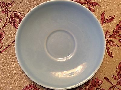Vintage  Lu-Ray Pastels Blue 6-inch saucer, used, in good condition