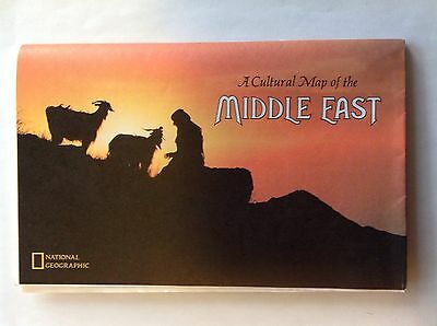 July 1972 National Geographic cultural map~Middle East~Holy Land today~Peoples
