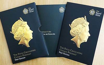 Royal Mint 2015 Fifth Portrait Coin Set 8 Brilliant Uncirculated Coins 1p to £2
