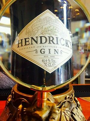 Rare Hendricks Gin Magnifying glass glorifier