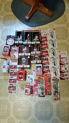 Coca Cola assortment of ornaments, magnets, and other stuff.  FREE  SHIPPING!