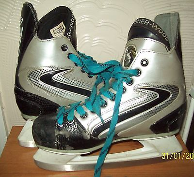 Sherwood raptor ice skating boots in size 5