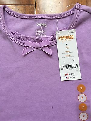NWT Gymboree Girl Shirt Size 7 Purple Solid Short Sleeve Shirt Girl Clothes