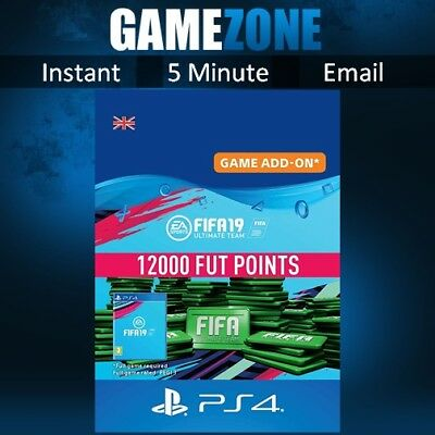 12000 FIFA 19 Ultimate Team Points - PS4 - PlayStation - PSN Code - UK - 2019