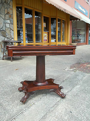 Outstanding Mahogany Empire Game Table 19th Century