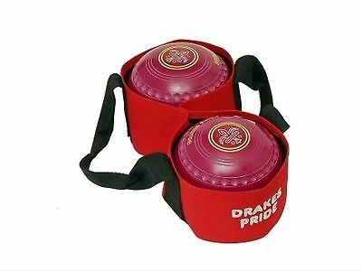 Drakes Pride - Two Bowl Carrier - Red- Bowls Carry Bag