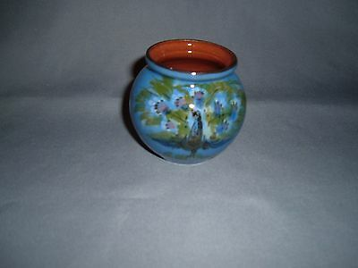 Torquay Pottery.  RARE Peacock Pot  by  Lemon and Crute.  (  69 )