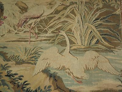 "Vintage French Tapestry.swan,heron...wall Hanging.long.48 2/83X115 1/8""."