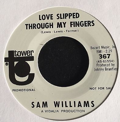 Sam Williams - Love Slipped Through My Fingers - Rare Northern re-issue 45