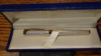 New Nos Waterman L`etalon Sterling Silver & Gold Rollerball  46305 Never Used