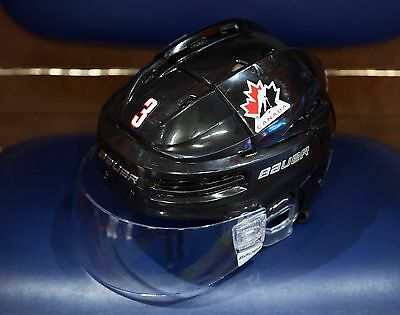 2017 Team Canada juniors Noah Juulsen helmet game worn Montreal Canadiens LOA