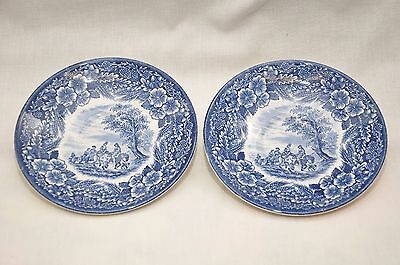 Pair of Broadhurst Thomas Gainsborough 250th Anniversary Saucers