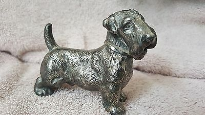 Vintage Sealyham  or Scottish Terrier dog metal figurine Scottie