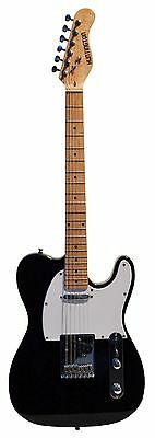 Full Size 39 Inch BLACK Electric Guitar [Telecaster TL Style] with Free Carryi..