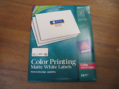 Avery® Color-Printing Address Labels, 1 1/4 x 2 3/8, Matte White 072782068714