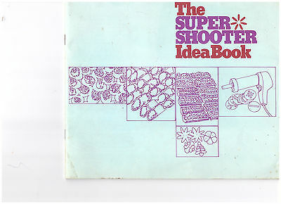 Wear Ever Electric Super Shooter Idea Cookie Book Instruction & Recipes