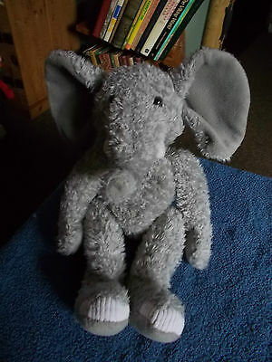 "Russ Berrie Tusks Grey Elephant 14"" Teddy Bear Plush Soft Toy Free Uk P&p"