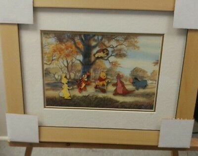 DISNEY'S Pooh's House with his 100 Acre Wood's friends... FRAMED PIN SET