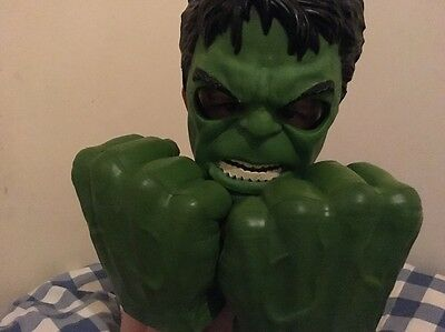Hasbro Hulk Gamma Smash Hands Gloves Fists and Mask Avengers Toys