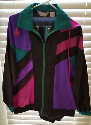 Vintage Women's Blair Windbreaker Track Jog Suit Set Size Med NWT  Unlined