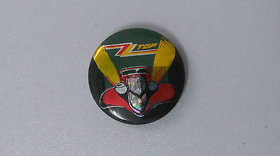ZZTop ZZ top eliminator music group vintage SMALL BUTTON