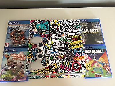 Sony PlayStation 4 With Custom Skin And 4 Games