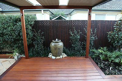 Bamboo fence , Bamboo screen , Bamboo  panels privacy screen 1.8 h x 1.2w