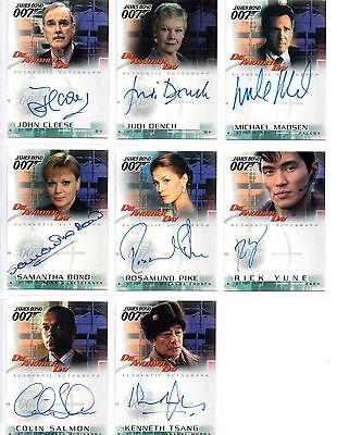 Die Another Day Auto Autograph Set