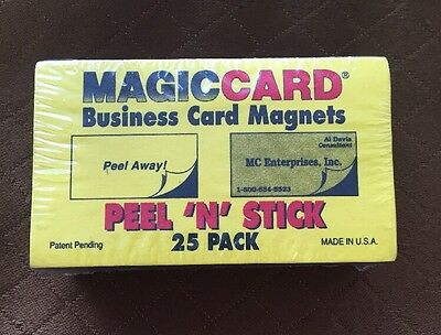 Self-Adhesive Peel-and-Stick Business Card Size Magnets Magic Card