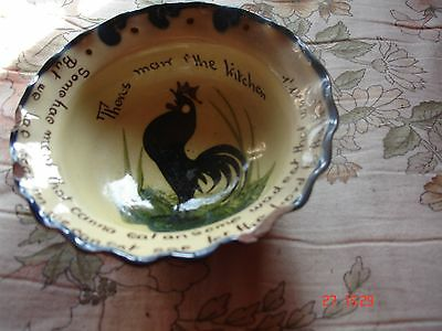 Vintage  Pottery  dish marked  with a rhyme