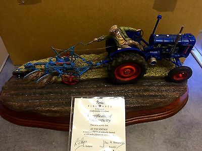 "BORDER FINE ARTS ""AT THE VINTAGE"" ( Fordson E27n Tractor) B0517 RAY AYRES"