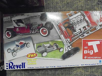 """Revell The Big """"T"""" model by Monogram 1:8 scale 3-in-1 BRAND NEW"""