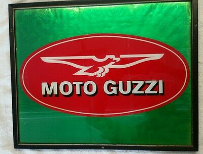 """Large Format 21""""× 17"""" Framed Moto Guzzi Logo For the Wall of Your """"Cave"""""""