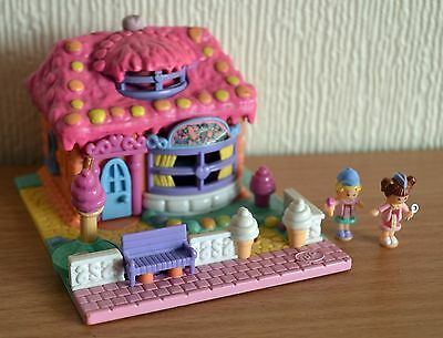 1995 Polly pocket ICE CREAM PARLOUR  PINK 100% complete