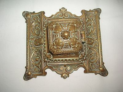 Antique - Victorian Brass Inkwell with Liner