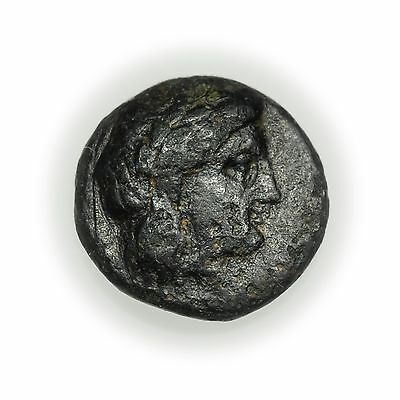 Knidos, Caria (189-167 BC) Bronze AE 11, Head of Apollo, Ancient Coin [3209.26]
