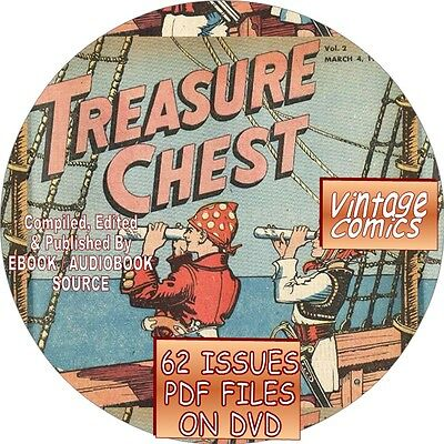 Treasure Chest Vintage Comic Book - 62 Issues - Pdf Files - On Dvd - Catholic