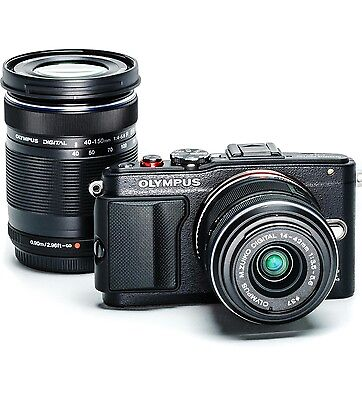 Olympus Pen E-PL6 Camera  Brand New Black with 2 Lenses
