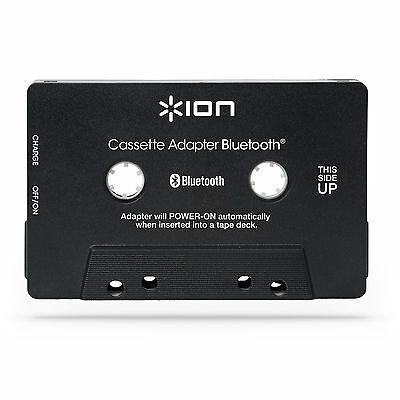 ION Audio Bluetooth Cassette Adapter Built-In Hands-Free Microphone for Calls/UK