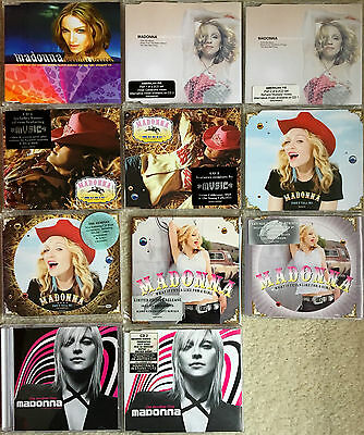 Madonna CD single collection Music era Die Another Day Beautiful Australia rare