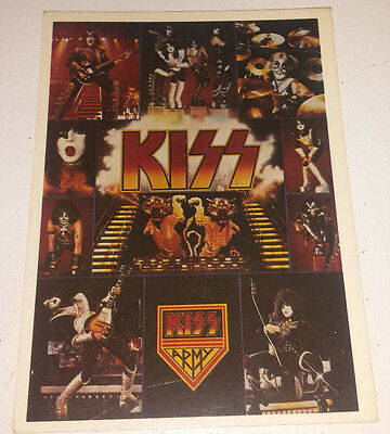 Kiss: post card (french) not date