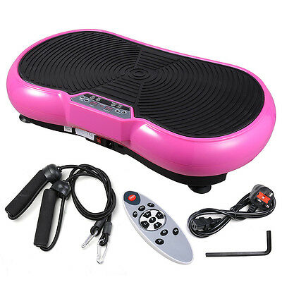 500W Crazy Fitness Machine Massage Vibration Plate Exercise Platform Home Pink