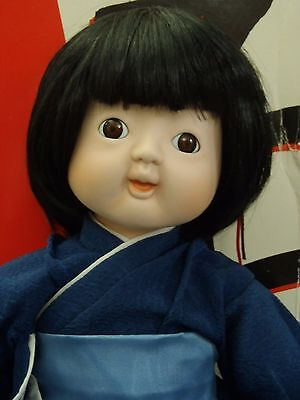 "1990 Vintage Japanese TADA SHI by William Tung 14"" porcelain doll"